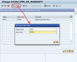 sales order table in sap using alias tables in sap queries
