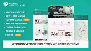 vendor directory wordpress theme wedding vendor themeforest