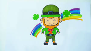 giant leprechaun coloring pages for kids l how to draw a