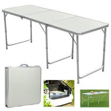 6 ft portable folding table 6ft portable aluminum folding table in outdoor picnic party dining