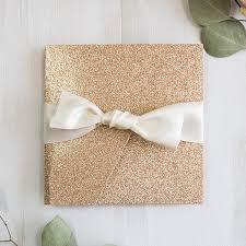 wedding invitation kits luxury gold glittery pocket wedding invitation kits ewws212