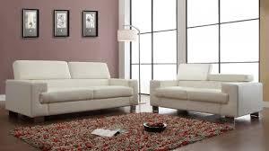 homelegance 2pcs vernon white bonded leather sofa set 9603wht sl
