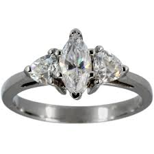 marquise diamond engagement ring dacarli marquise diamond engagement ring with trillions 1 2ct