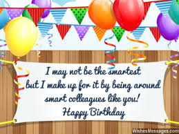 funny birthday message for smart colleagues greeting card work
