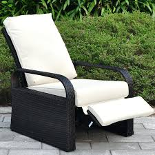 Wicker Reclining Patio Chair Chairs Reclining Patio Chairs Furniture With Ottoman Garden Bq