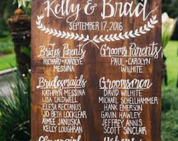 wedding program sign wood wedding program etsy