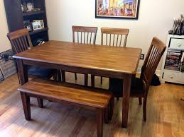 ashley furniture dining table with bench bench decoration