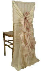 brown chair covers ivory chiavari chair sleeve with curly willow blush accent