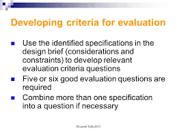 design criteria questions developing an effective design brief for the vce food and technology