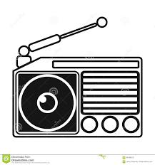 Radio Black Background Radio Icon In Black Style Isolated On White Background Picnic