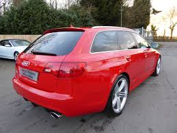 used 2008 audi rs6 avant v10 quattro high spec rare red for