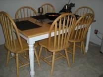 Beautiful Country Style Kitchen Table With  Chairs For Sale In - Country style kitchen tables
