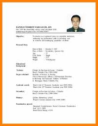 resume format 2017 philippines resume format sle for nurses in the philippines cover letter