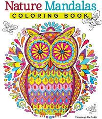 Nature Mandalas Owl By Thaneeya Teaching Pinterest Mandalas Owl Coloring Ideas