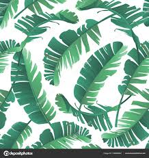 tropical wrapping paper seamless watercolor illustration of tropical leaves jungle
