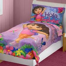 Dora The Explorer Bedroom Furniture by Dora Explorer Toddler Bed Hola Explorers Comforter Sheets