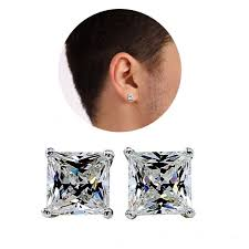 earrings for men diamond earrings for men white gold square shape surewaydm