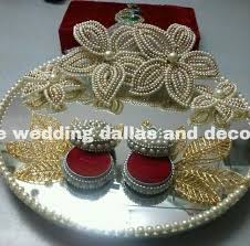 Plate Decoration For Engagement Retailer Of Gift Packing Bag U0026 Engagement Ring Platter By Indore