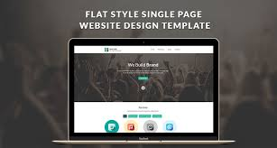 free flat style single page website design template html free
