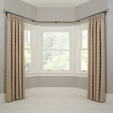 Measuring Bay Windows For Curtains Buy John Lewis Made To Measure Classic Bay Bend Curtain Pole Leaf