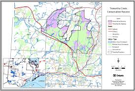 Trans Canada Highway Map by Trewartha Creek Conservation Reserve Management Statement Ontario Ca