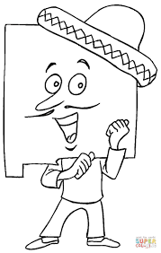 new mexico in hat coloring page free printable coloring pages