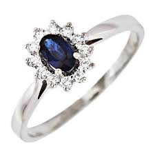 inel diamant inel aur 14k cu safir si diamante bucuresti goldnet