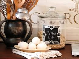 glass canisters for kitchen chalkboard kitchen canisters hgtv
