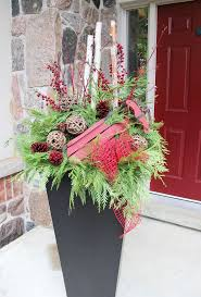 34 best outdoor christmas planters images on pinterest outdoor