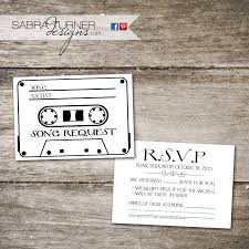 wedding song request cards cassette rsvp card song request card wedding rsvp card
