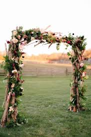 wedding arches branches rustic wedding decor idea a wood ceremony arch consisting of