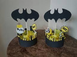 batman baby shower decorations centro de mesa batman baby shower manualidades