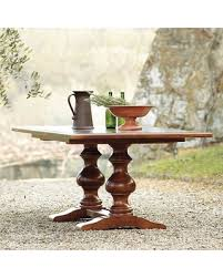 Two Pedestal Dining Table Slash Prices On Ballard Designs Casa Florentina Tarvine Double