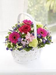 Wedding Bouquets Cheap Buy Summer Times Basket Country Flowers Delivery Same Day