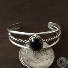antique sterling silver bracelet images Western navajo 1970s american indian antique jewelry black onyx jpg