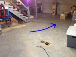 sewage smell and and history of backup in floor drains plumbing