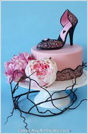 high cake topper high heel shoe cake topper and sugar diamond brooch class flickr