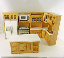 dollhouse kitchen furniture wooden dollhouse kitchen sets ebay