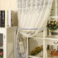 French Country Window Valances Country Rooster Curtains And Embroidery Grey Color