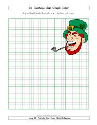 st patrick u0027s day graph paper 5 lines per inch with a leprechaun theme