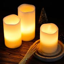 kohree real wax flameless candles battery operated led candles