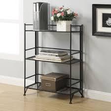 3 tier folding bookcase wayfair
