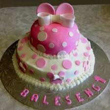 girls birthday cake minnie mouse ears butter cream icing fondant