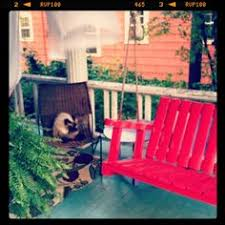 red porch swing at the popular house b key west florida key