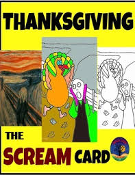 thanksgiving interactive card the scream by cool classroom