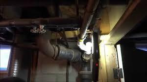 Plumbing House Old Copper Drain Leaking In Farm House Plumbing Repair Youtube