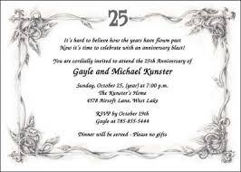 amazing 25th wedding anniversary invitations theruntime