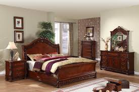 vintage bedroom furniture sets gold finished solid wood queen size