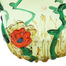 murano glass vases murano glass tall abstract flower vase