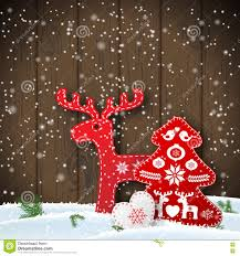 christmas motive in scandinavian style red and white folk